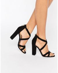 Miss Kg - Sian Strappy Block Heeled Sandals - Lyst