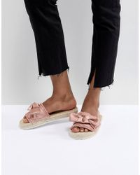 Miss Selfridge - Bow Espadrille Sandals - Lyst