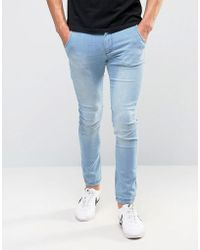 Illusive London - Super Skinny Jeans In Blue - Lyst