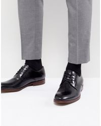 ALDO - Yilaven Leather Derby Shoes In Black - Lyst