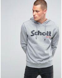 Schott Nyc - Large Logo Crew Sweatshirt - Lyst