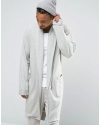 ASOS - Brushed Woven Shawl Neck Dressing Gown - Lyst