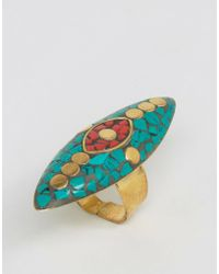 Glamorous - Mosaic Cross Ring - Lyst