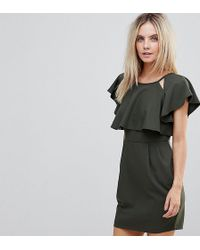 ASOS - Double Layer Mini Wiggle Dress With Angel Sleeve - Lyst