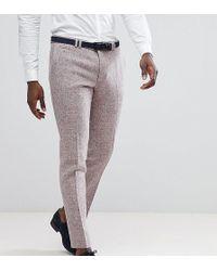 Noak - Skinny Suit Trouser In Harris Tweed - Lyst