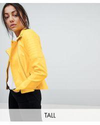 Noisy May Tall - Rebel Biker Jacket - Lyst
