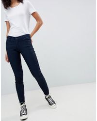 Armani Exchange - Super Skinny Low Rise Jeans - Lyst