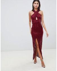 AX Paris - Halterneck Maxi Dress - Lyst
