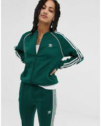 d54793048672 adidas Originals - Originals Adicolor Three Stripe Track Jacket In Green -  Lyst