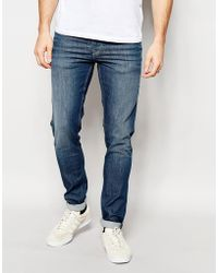 Pepe Heritage - Pepe Jeans Powerflex Finsbury Superstretch Skinny Fit Big Twill Mid Blue - Lyst