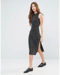 Blend She | Silli Long Lurex Dress | Lyst