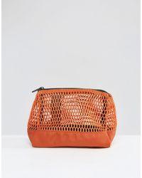ASOS - Lifestyle Mesh Mix Make Up Bag - Rust - Lyst