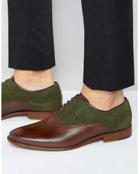 ALDO - Kireviel Leather Suede Oxford Shoes - Lyst