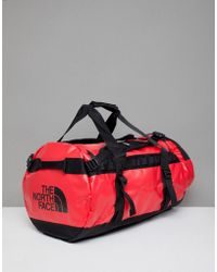 The North Face - Base Camp Duffel Bag Medium 71 Litres In Red/black - Lyst