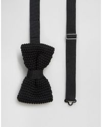 Féraud - Knitted Bow Tie In Black - Black - Lyst