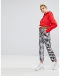 Lazy Oaf - X Hello Kitty Gingham Trousers With Bows - Lyst