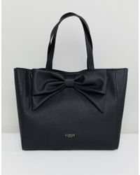 Lipsy - Bow Shopper Bag In Black - Lyst