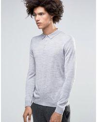 Minimum - Jaylen Merino Ls Knit Polo - Lyst
