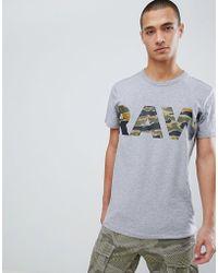 G-Star RAW - Camo Tahire Logo T-shirt - Lyst