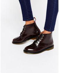 Dr. Martens - Kensington Emmeline 5-eye Cherry Boots - Cherry - Lyst