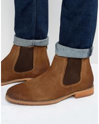 Call It Spring - Draun Suede Chelsea Boots - Lyst