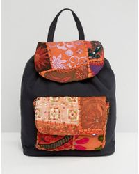 Glamorous - Glamourous Backpack With Embroidery - Lyst