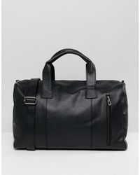 French Connection - Faux Leather Smart Holdall - Lyst