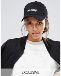 Adolescent Clothing - On Vaccy Embroidered Baseball Cap - Black - Lyst