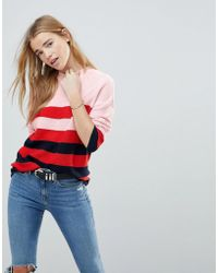 B.Young - Stripe 3/4 Sleeve Jumper - Lyst