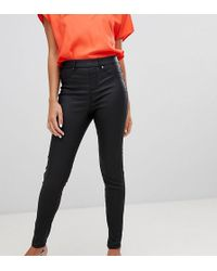 ad339b1cbafda0 River Island Molly Leather Look Jegging in Black - Lyst
