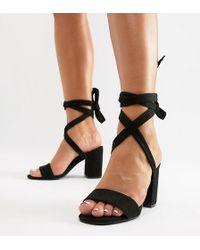 f3d358609b7 Park Lane - Parklane Wide Fit Tie Leg Block Heeled Sandals - Lyst