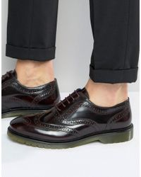 Red Tape - Brogues In Oxblood - Red - Lyst