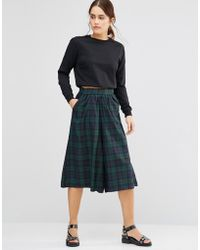 Uncivilised - Temple Check Culottes - Lyst