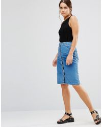Uncivilised - North Beach Denim Skirt - Lyst