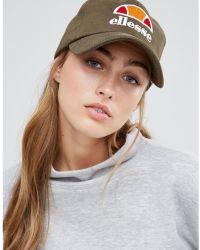 Ellesse - Baseball Cap In Khaki - Lyst