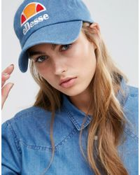 Ellesse - Baseball Cap In Washed Blue - Blue - Lyst