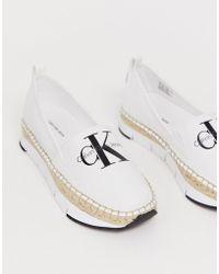 Calvin Klein - Alpargatas de lona blancas Genna - Lyst