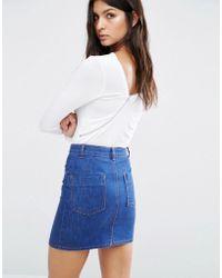 Daisy Street | Zip Back Bodysuit | Lyst