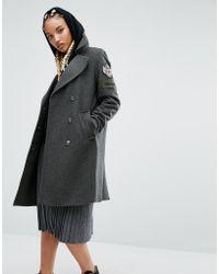 Pull&Bear - Appliquéd Wool-Blend Military Jacket  - Lyst
