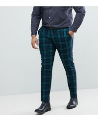 ASOS - Plus Super Skinny Suit Trousers In Blackwatch Tartan - Lyst