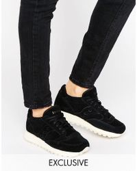 Saucony - Exclusive Jazz O Suede Trainers In Black - Lyst
