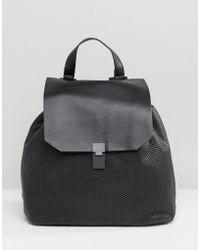 Pull&Bear - Mesh Backpack - Black - Lyst