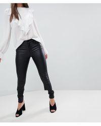 Vila - Coated Skinny Jean - Lyst