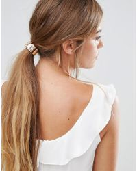 Glamorous - Jewel Hair Tie - Lyst