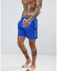 Calvin Klein - Swim Shorts In Dazzling Blue - Lyst