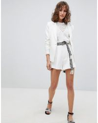 Suncoo - Tailored Shorts With Tapestry Belt - Lyst