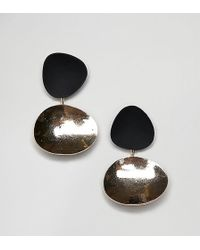 Reclaimed (vintage) - Inspired Front And Back Earrings - Lyst