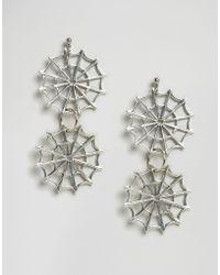 Regal Rose | Dolores Double Web Earrings | Lyst