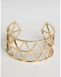 Nylon - Geo Cut Out Cuff Bracelet - Lyst