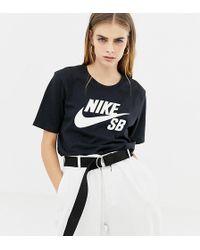 33c49040d7d5b Nike Camo Logo Cropped Grey T-shirt in Gray - Lyst